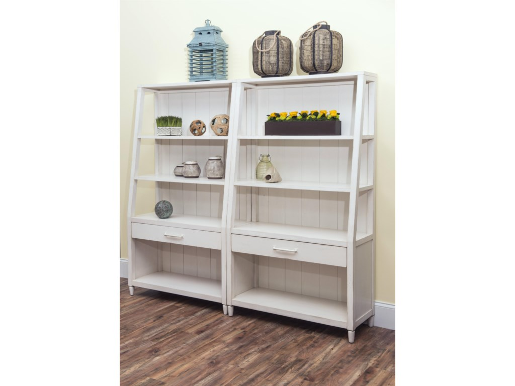 Carolina Preserves by Klaussner Sea BreezeSplish Splash-White Bookcase