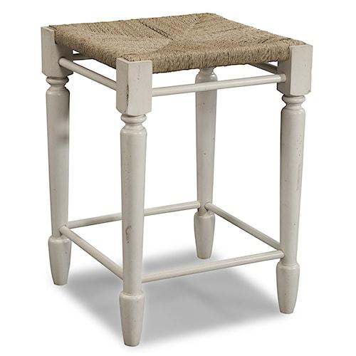 Easton Collection Sea Breeze White Desk Stool