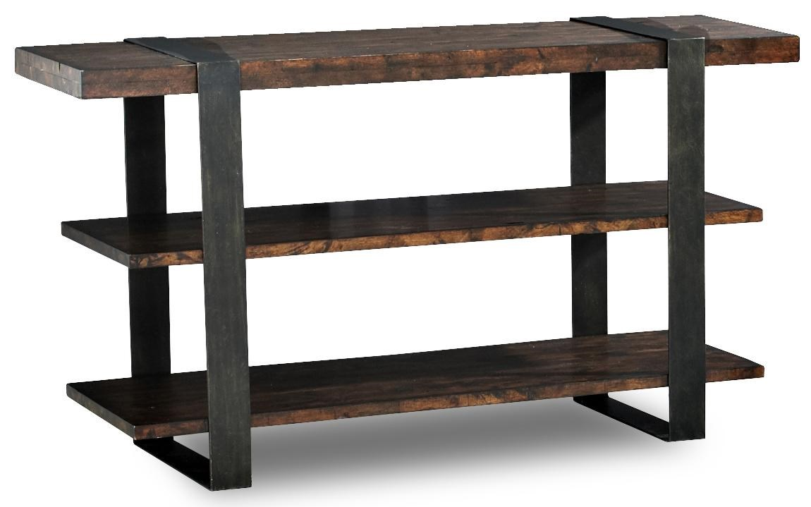 Timber Forge Rustic Sofa Table With Thick Metal Legs By Klaussner  International