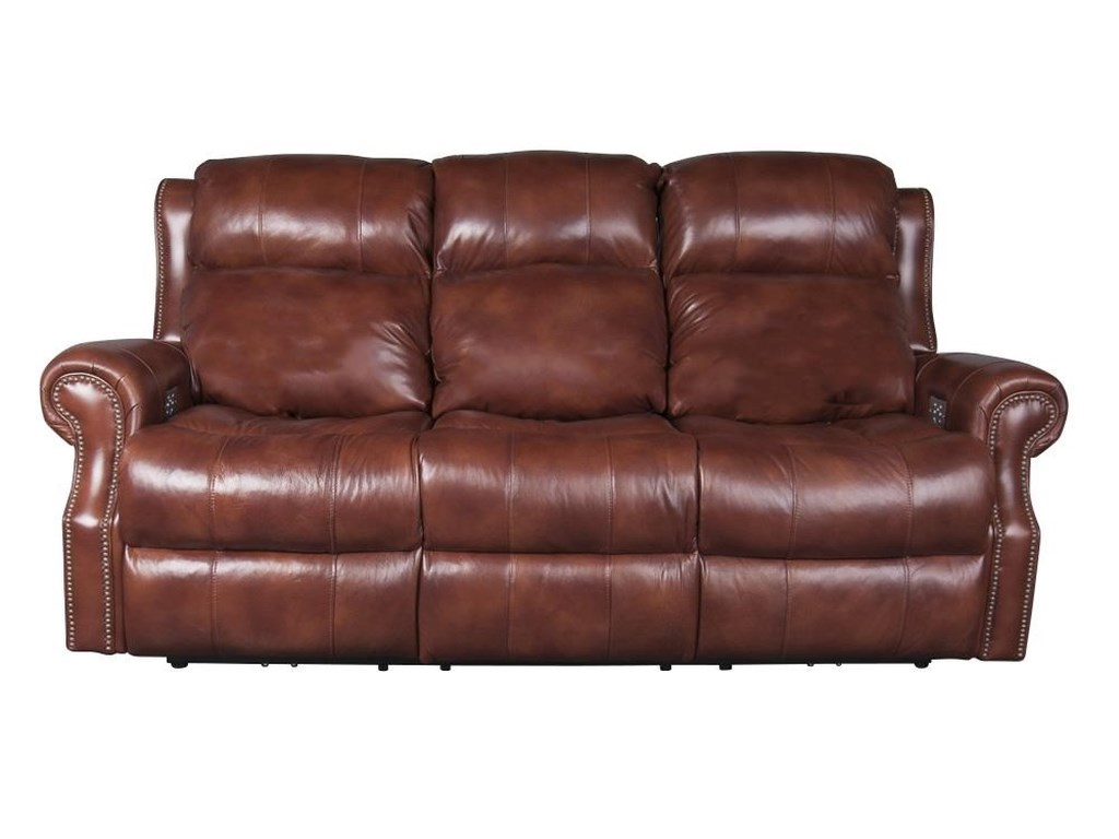 Underwood Leather Match Power Sofa with Power Headrest , Lumbar ...