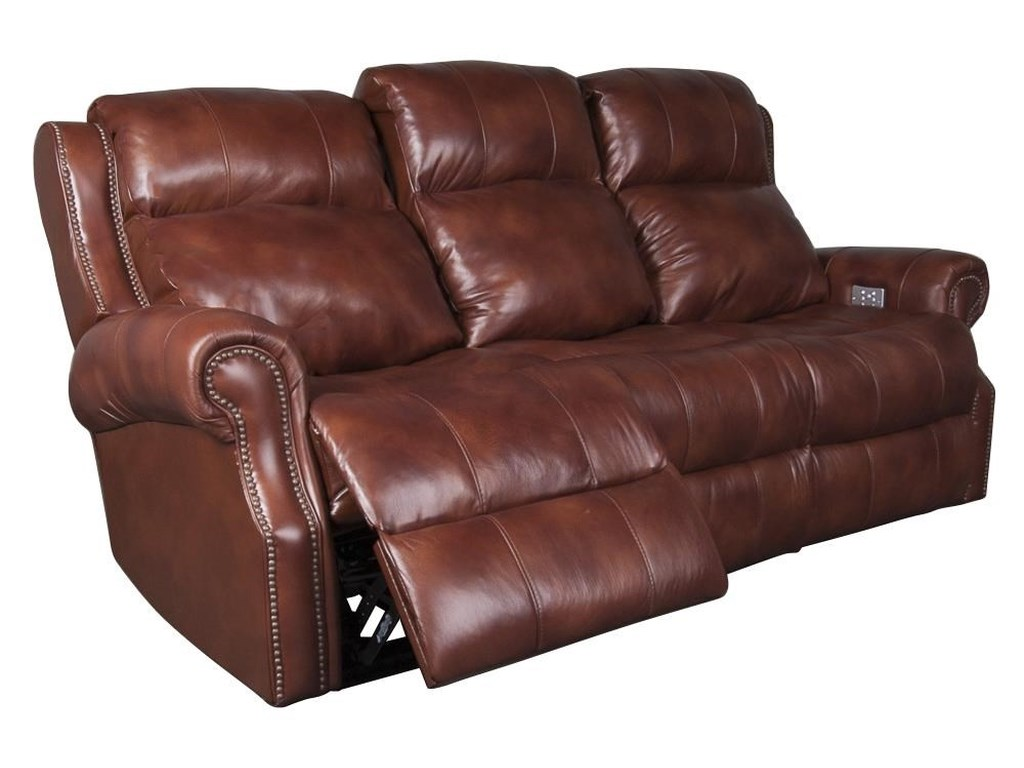 Klaussner International UnderwoodUnderwood Leather Match Power Sofa
