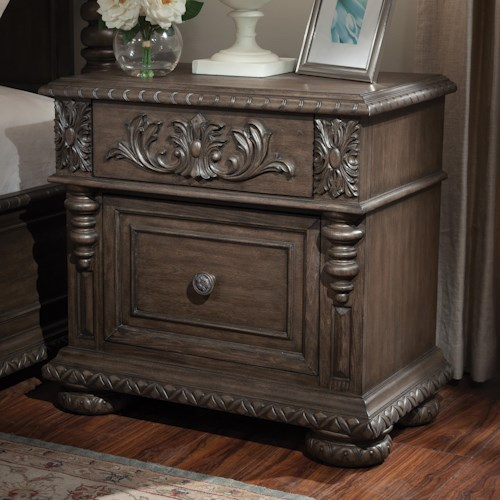 Klaussner International Versailles Night Stand with Decorative ...