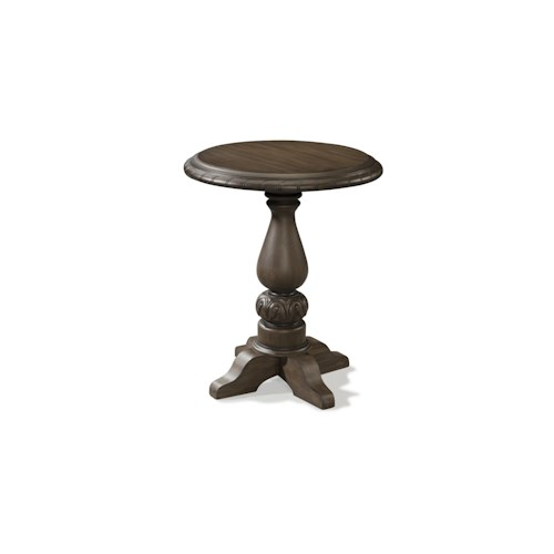Belfort Basics Virginia Manor Lamp Table with Round Top and Pedestal Base