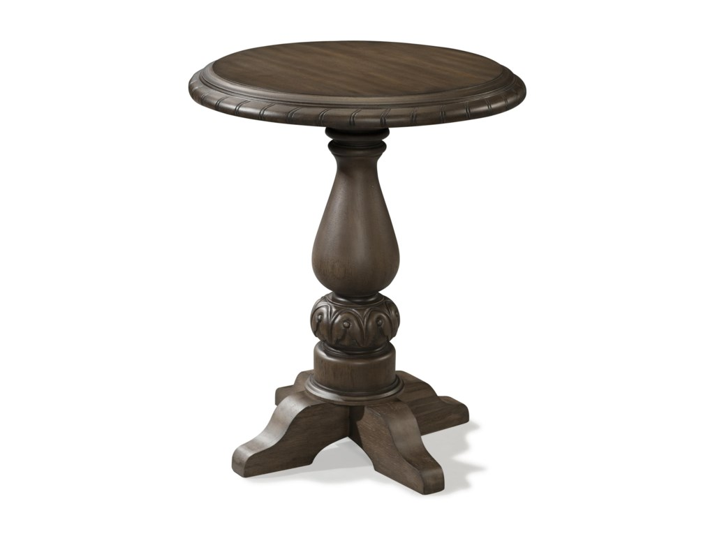 Klaussner international versailles 980 816 etbl lamp table with versailles lamp table with round top and pedestal base by klaussner international mozeypictures Images