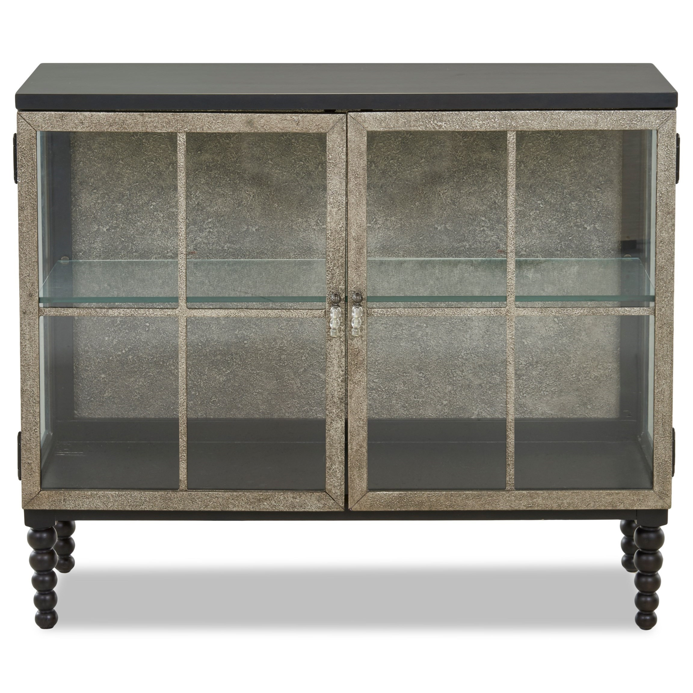 glass form furniture klaussner international waxing poetic form beauty display cabinet with glass doors and one shelf