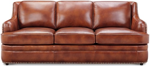 Klaussner International Wheaton Traditional Sofa with Nail Head Trim