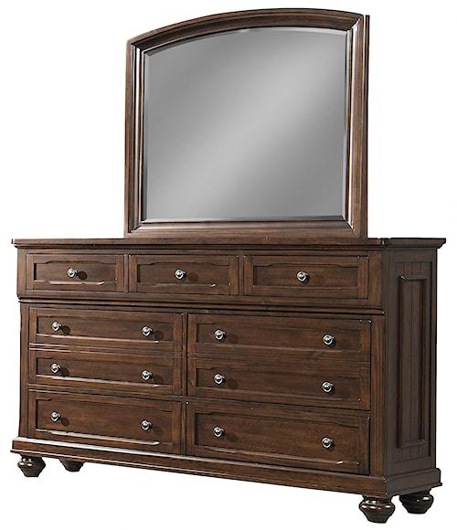 Klaussner international whittington 7 drawer dresser and for Furniture 0 percent financing