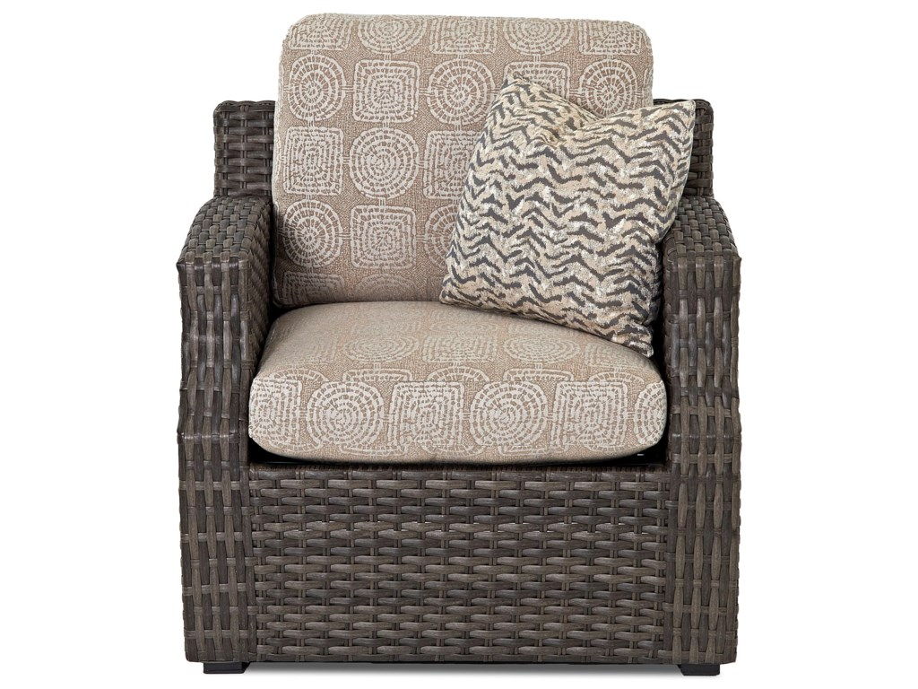 Klaussner Outdoor CascadeChair w/ Reversible Cushion