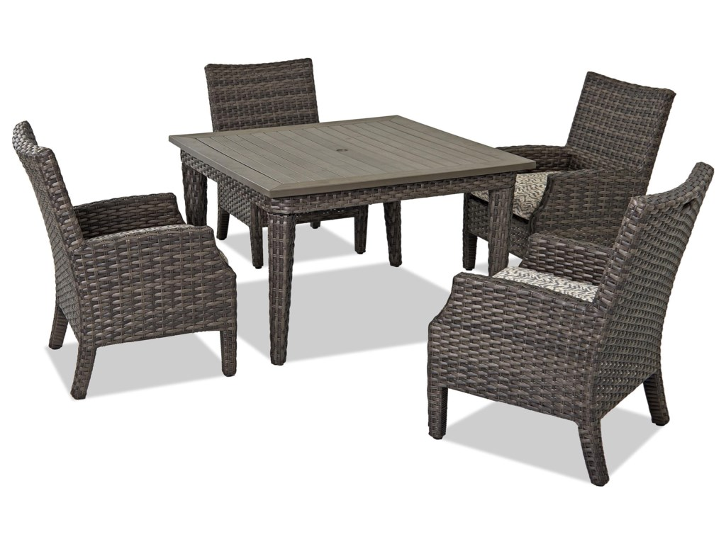 Klaussner Outdoor Cascade2 Pack Din Chair w/ Drainable Cushion