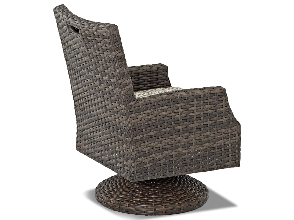 Klaussner Outdoor CascadeSw Rock Din Chair w/ Reversible Cushion