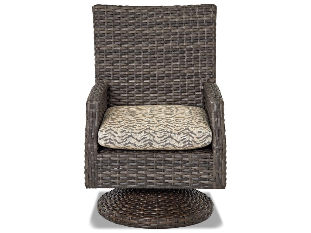 Klaussner Outdoor CascadeSw Rock Din Chair w/ Drainable Cushion