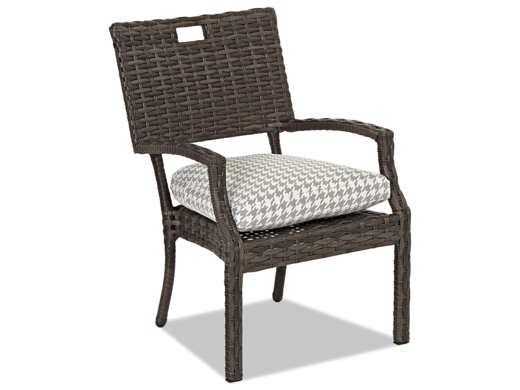 Klaussner Outdoor Cascade4 Pack Stack Din Chair w/ Reversible Cushion