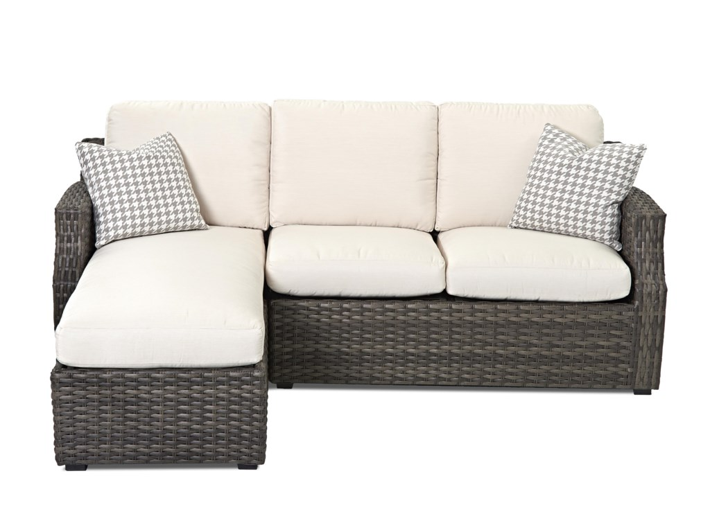 Klaussner Outdoor  CascadeOutdoor Sectional Sofa with Chaise
