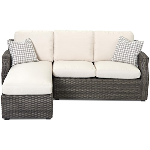 Klaussner Outdoor  Cascade Outdoor Sectional Sofa with Chaise