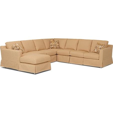 Sectional Sofa w/ LAF Chaise & Drain Cush