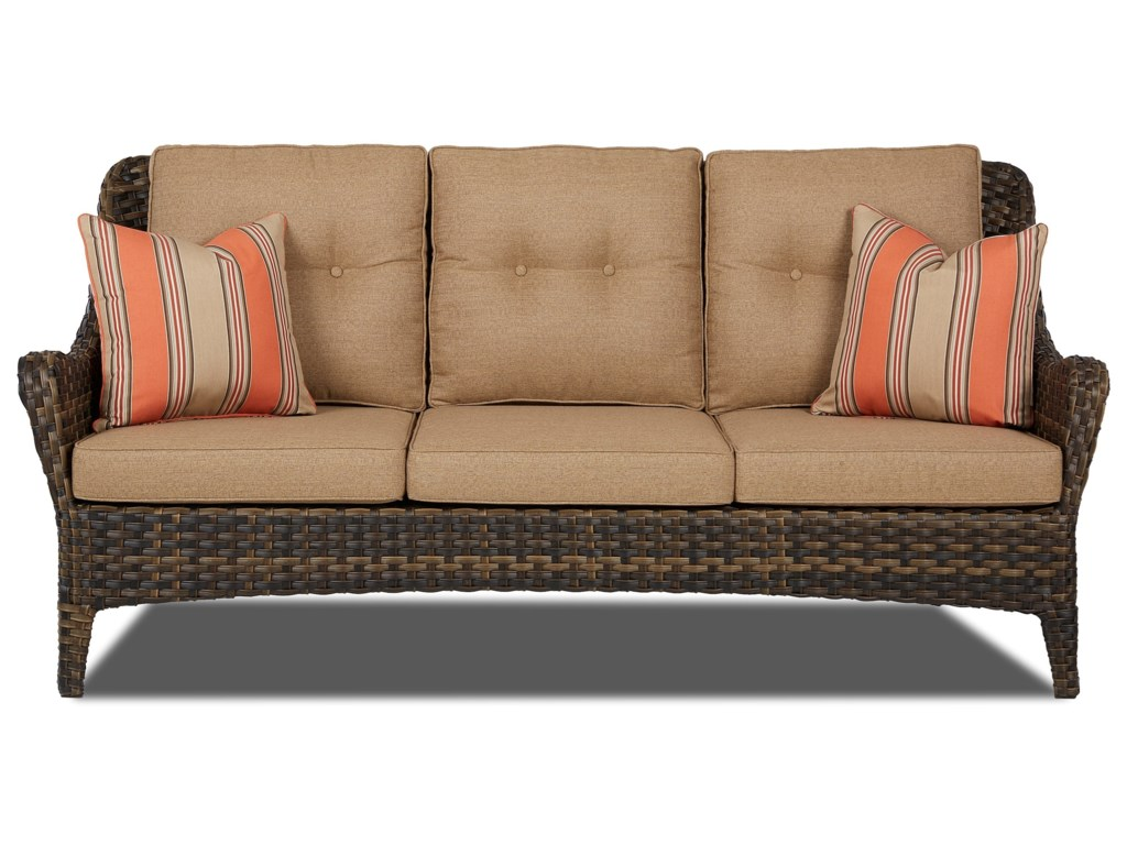 Bayley Outdoor Sofa With Reversible Cushions By Klaussner