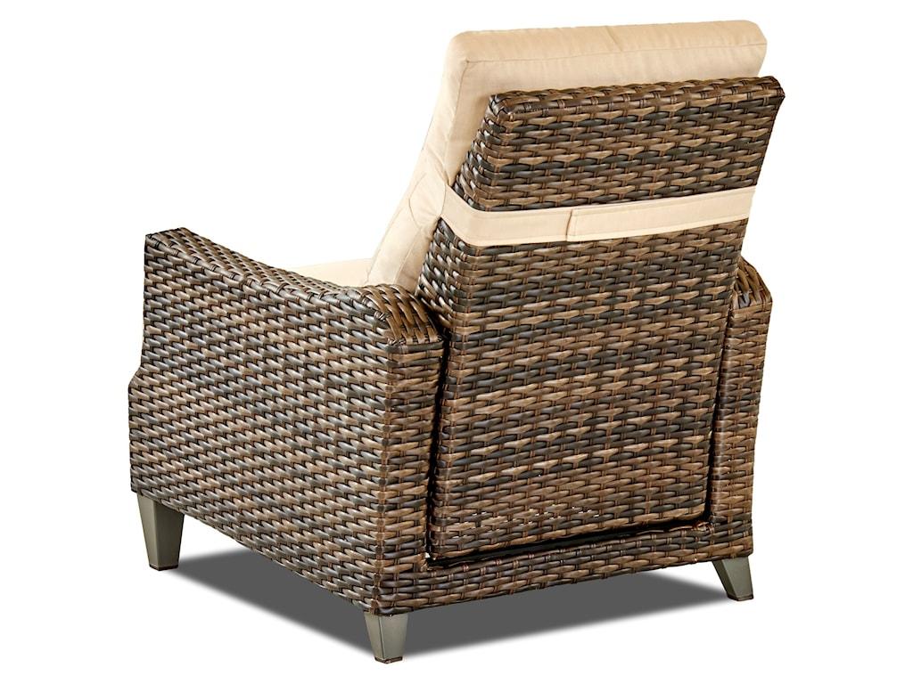Klaussner Outdoor BelmeadeHigh Leg Recliner w/ Reversible Cushion