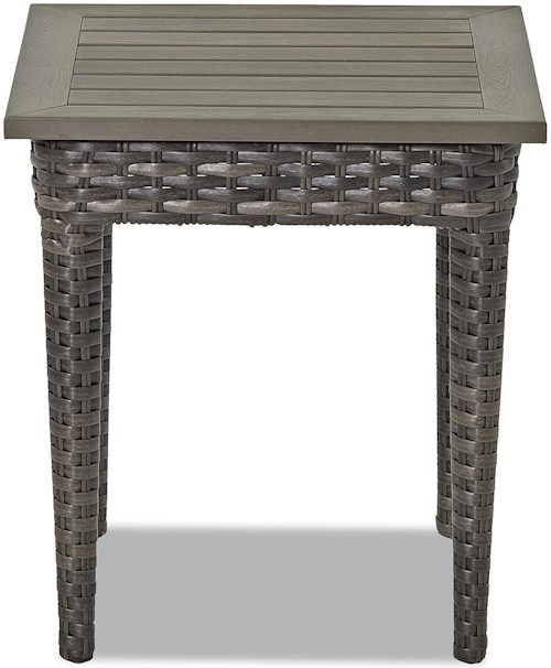 Klaussner Outdoor Cascade Square End Table