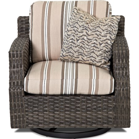 Outdoor Swivel Glider Chair (Drainable Cush)