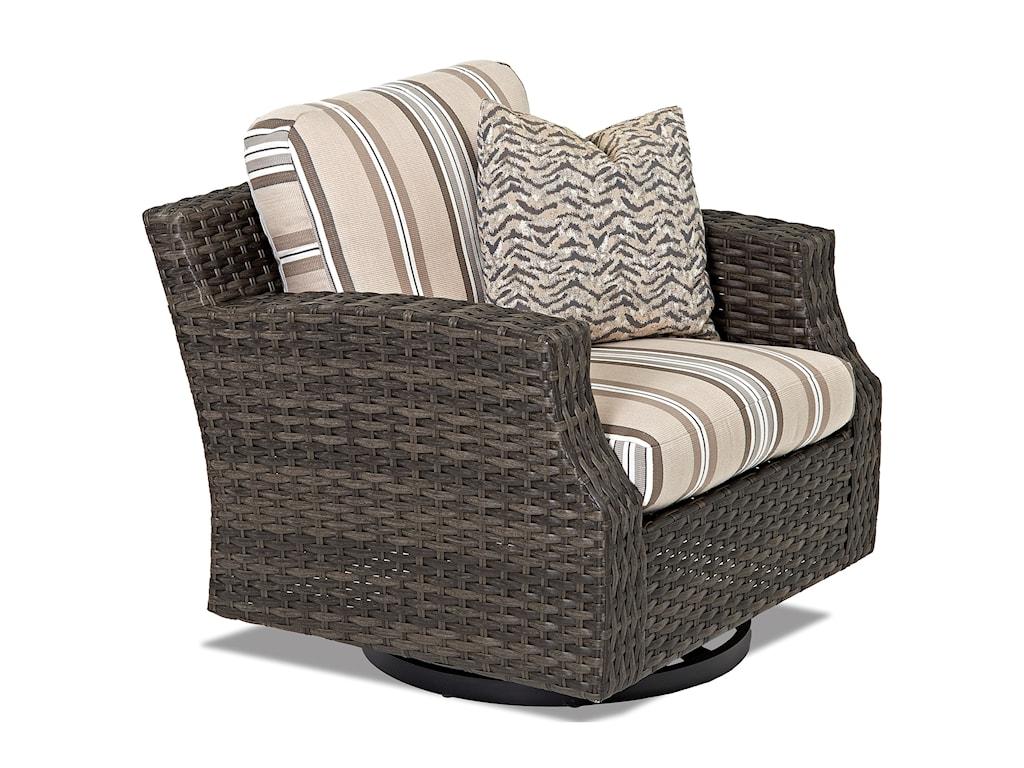 Klaussner Outdoor CascadeOutdoor Swivel Glider Chair