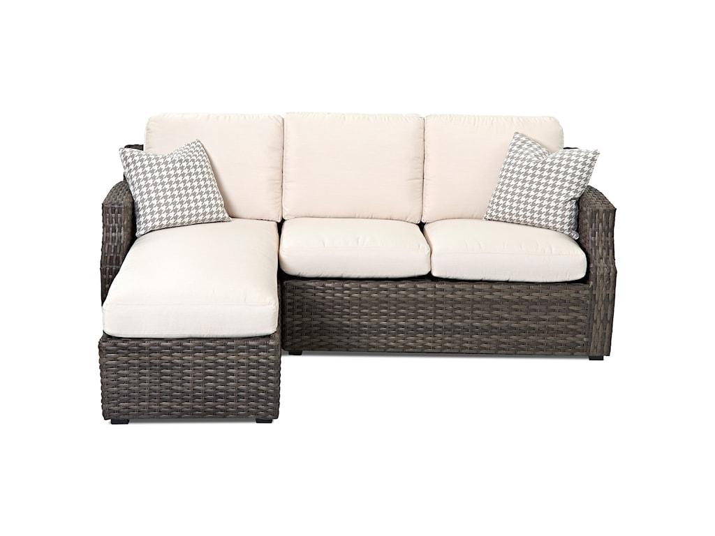 Klaussner Outdoor CascadeOutdoor Sectional Sofa (Reversible Cushion)