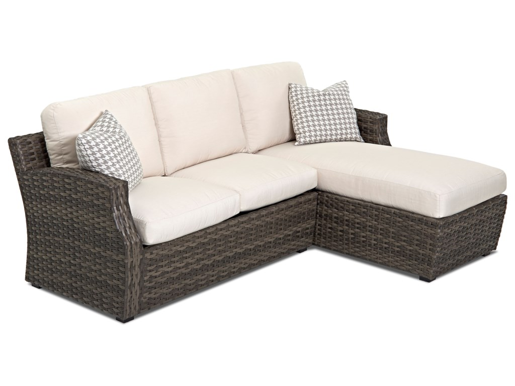 Klaussner Outdoor CascadeOutdoor Sectional Sofa (Drainable Cushion)