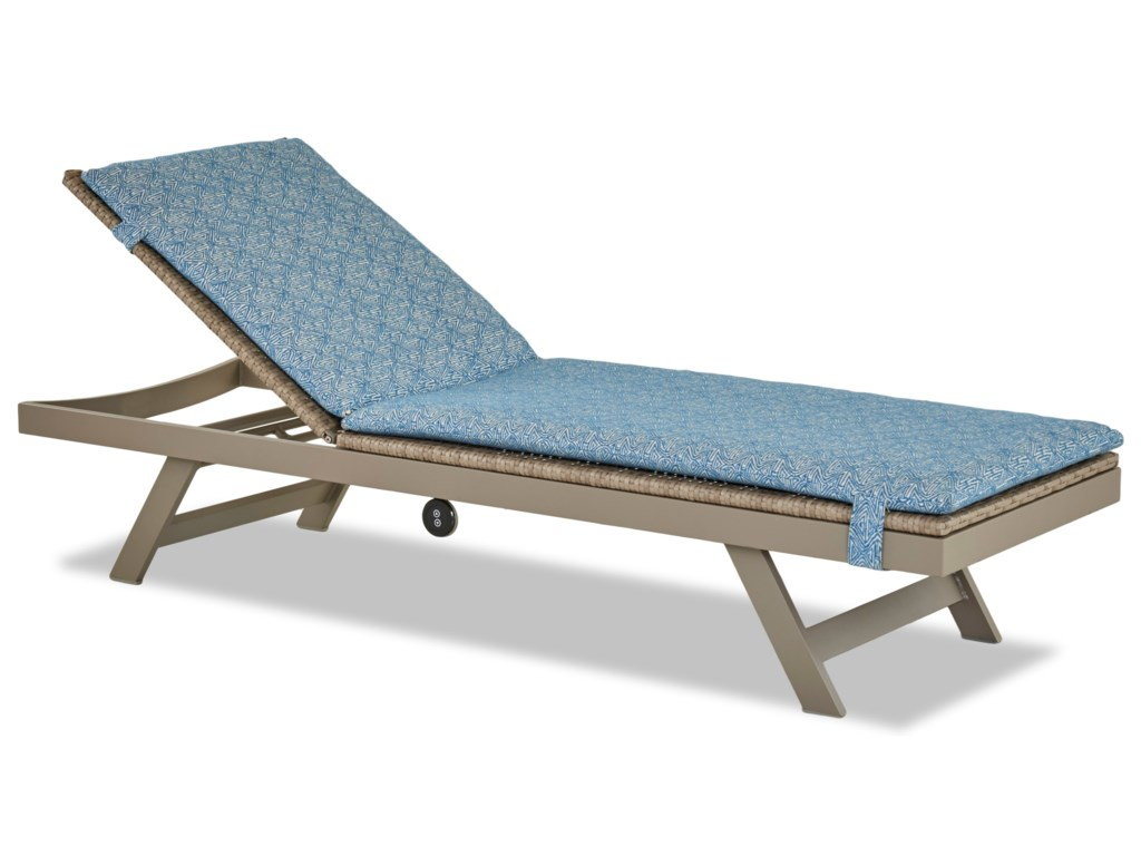 Klaussner Outdoor CassenaPower Reclining Chaise Lounge
