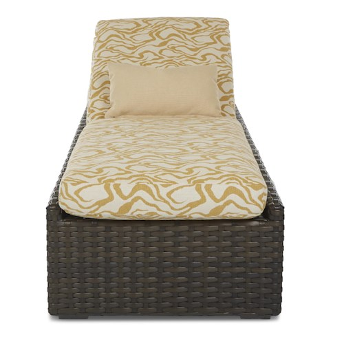 Klaussner Outdoor Cassley Chaise with Reversible Cushion