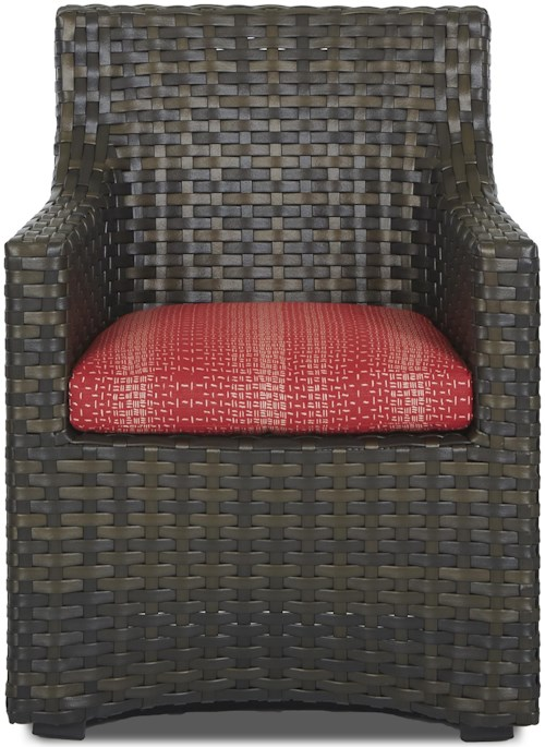 Klaussner Outdoor Cassley Dining Chair with Square Seat Cushion (Reversible Cushion)