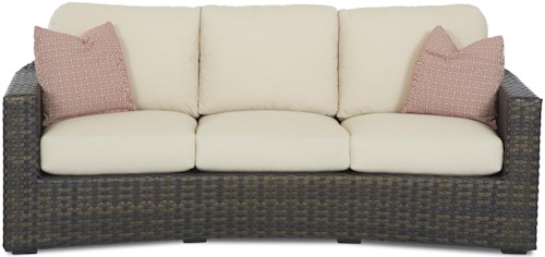 Klaussner Outdoor Cassley Sofa with Reversible Cushion