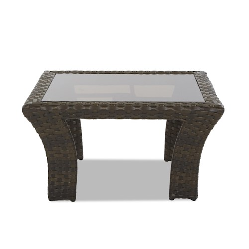 Klaussner Outdoor Cassley Square Cocktail Table with Glass Top
