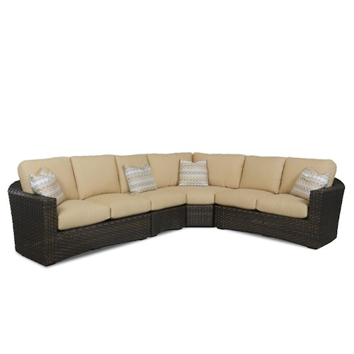 Klaussner Outdoor Cassley Sectional Sofa Group with Reversible Cushions