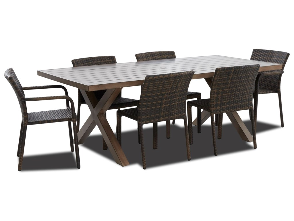 Klaussner Outdoor Crossroads7 Piece Outdoor Dining Set