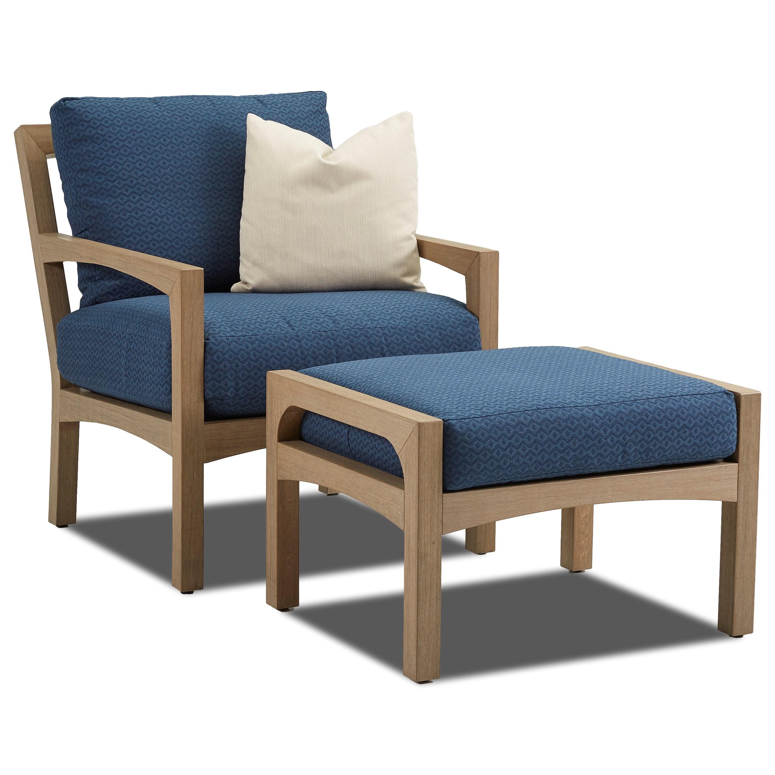 Klaussner Outdoor DelrayOutdoor Chair And Ottoman ...