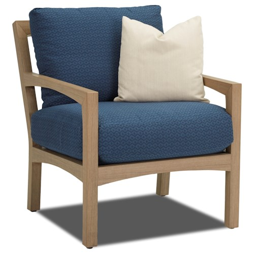 Klaussner Outdoor Delray Outdoor Chair with Drainable Cushion