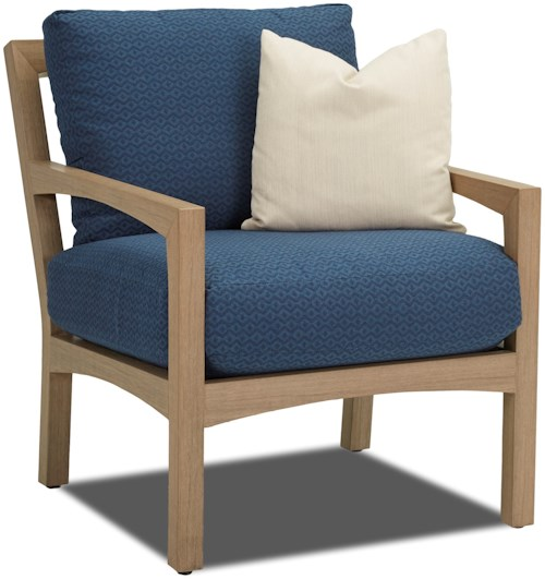 Klaussner Outdoor Delray Outdoor Chair With Drainable