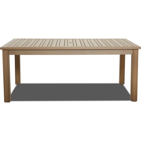 "Outdoor 73"" x 42"" Rect Dining Table"