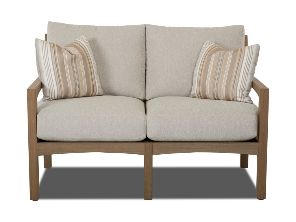 Klaussner Outdoor DelrayLoveseat w/ Drainable Cushion