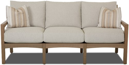 Klaussner Outdoor Delray Outdoor Sofa with Drainable Cushions
