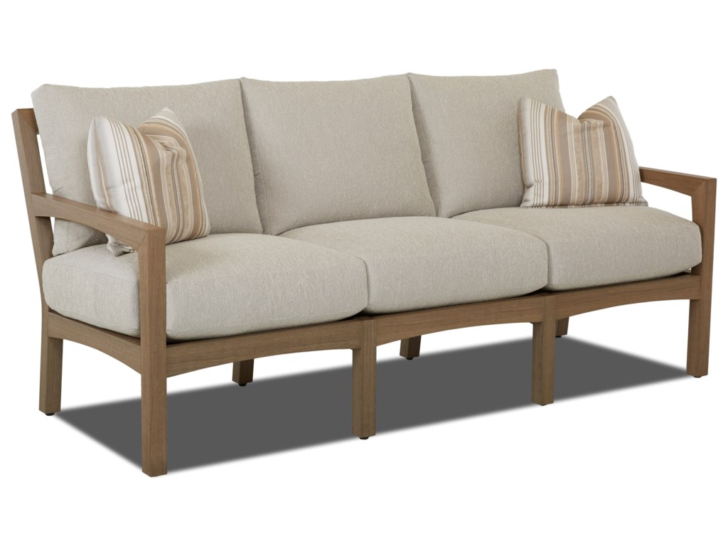 Klaussner Outdoor DelrayOutdoor Sofa with Drainable Cushions
