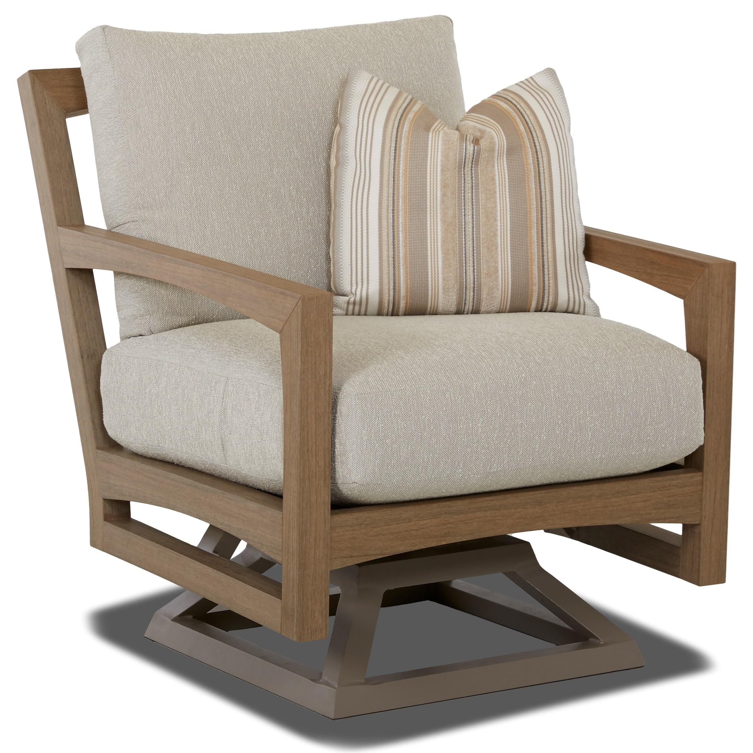 Klaussner Outdoor DelraySwivel Rocker Chair ...