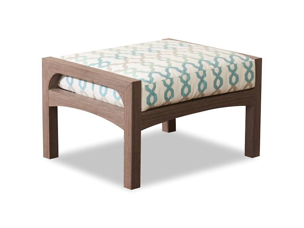 Klaussner Outdoor DelrayOutdoor Ottoman with Reversible Cushion