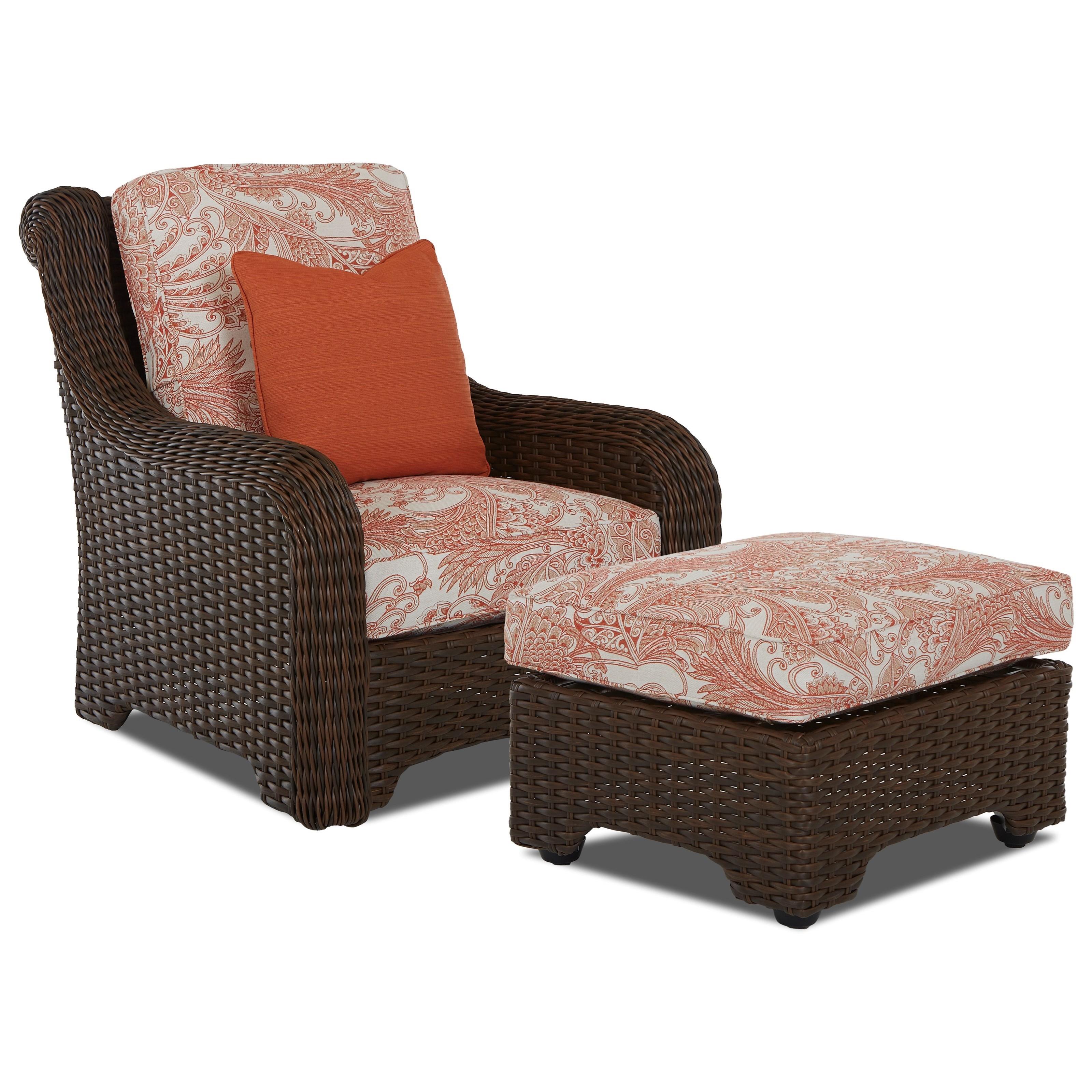 Klaussner Outdoor LaurelOutdoor Chair U0026 Ottoman Set ...