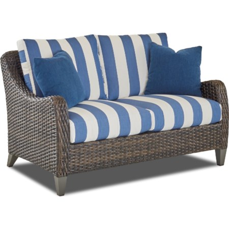 Loveseat with Drainable Cushion