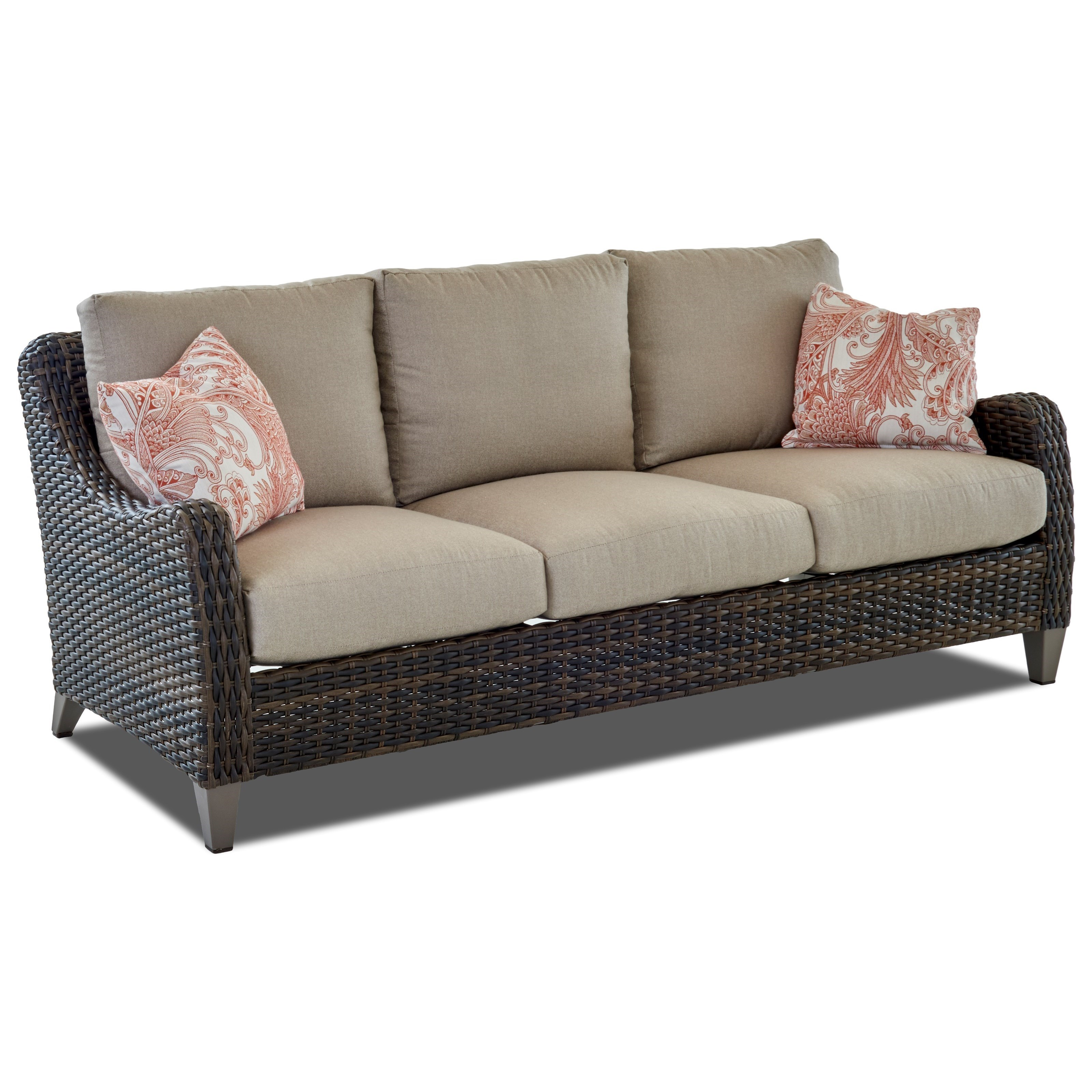 Metropia Outdoor TulsaSofa With Drainable Cushion ...