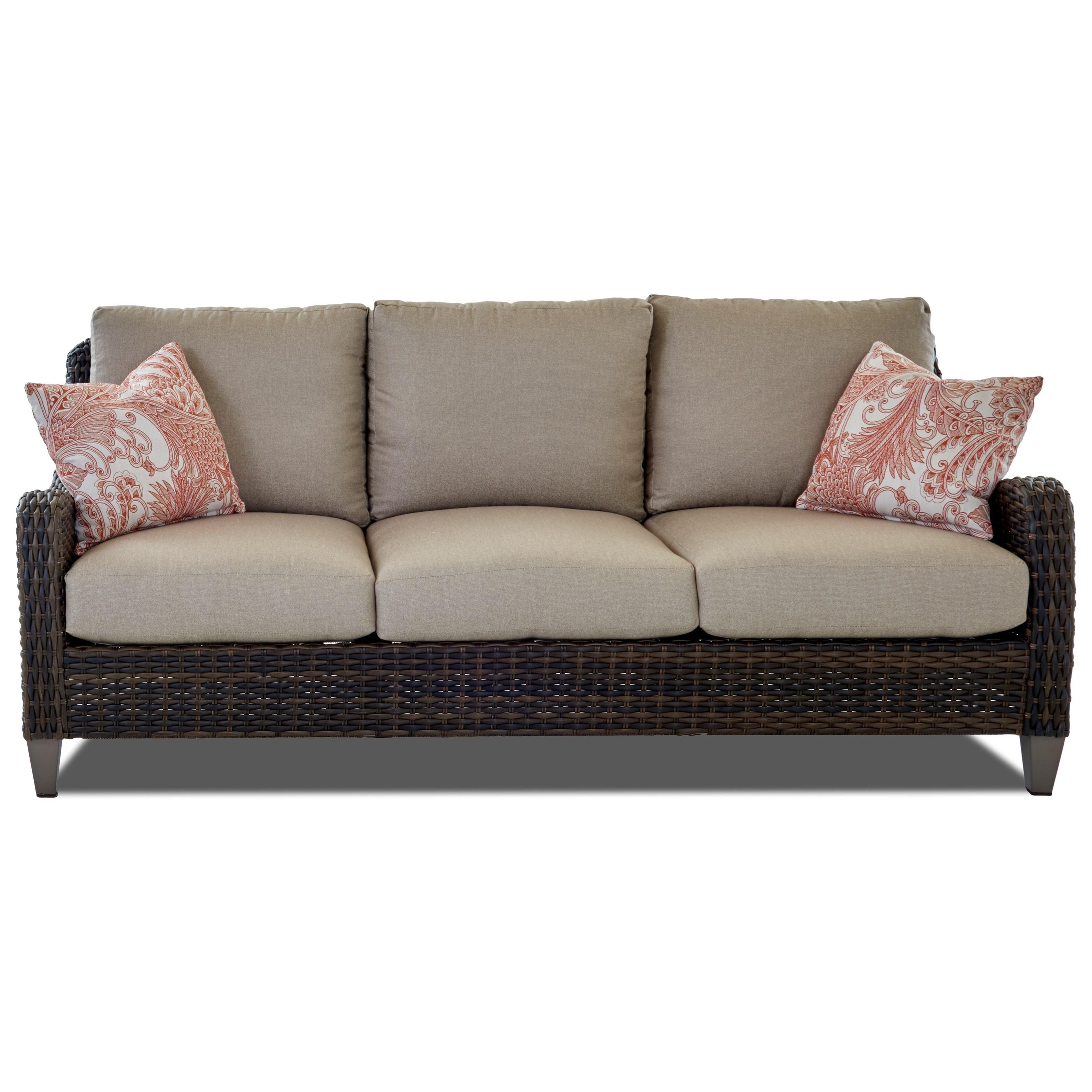 ... Klaussner Outdoor MesaSofa With Drainable Cushion ...