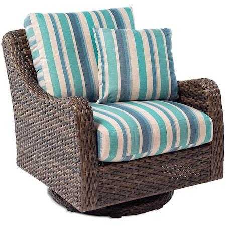 Swivel Rocker with Drainable Cushion
