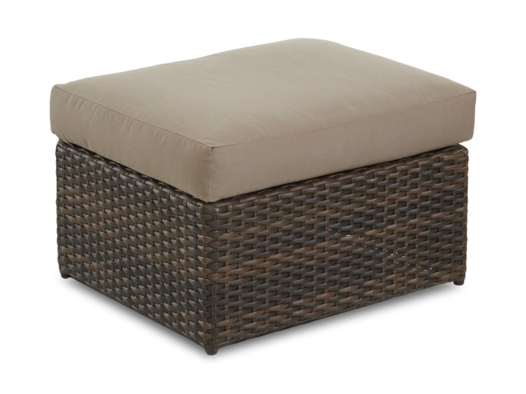 Klaussner Outdoor Mod SeriesOttoman w/ Reversible Cushion