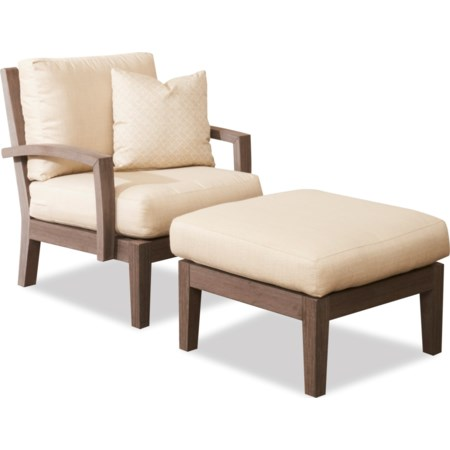 Outdoor Chair and Ottoman Set