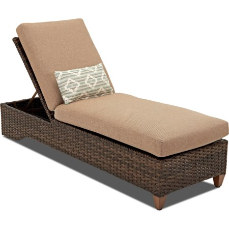 Chaise with Reversible Cushion